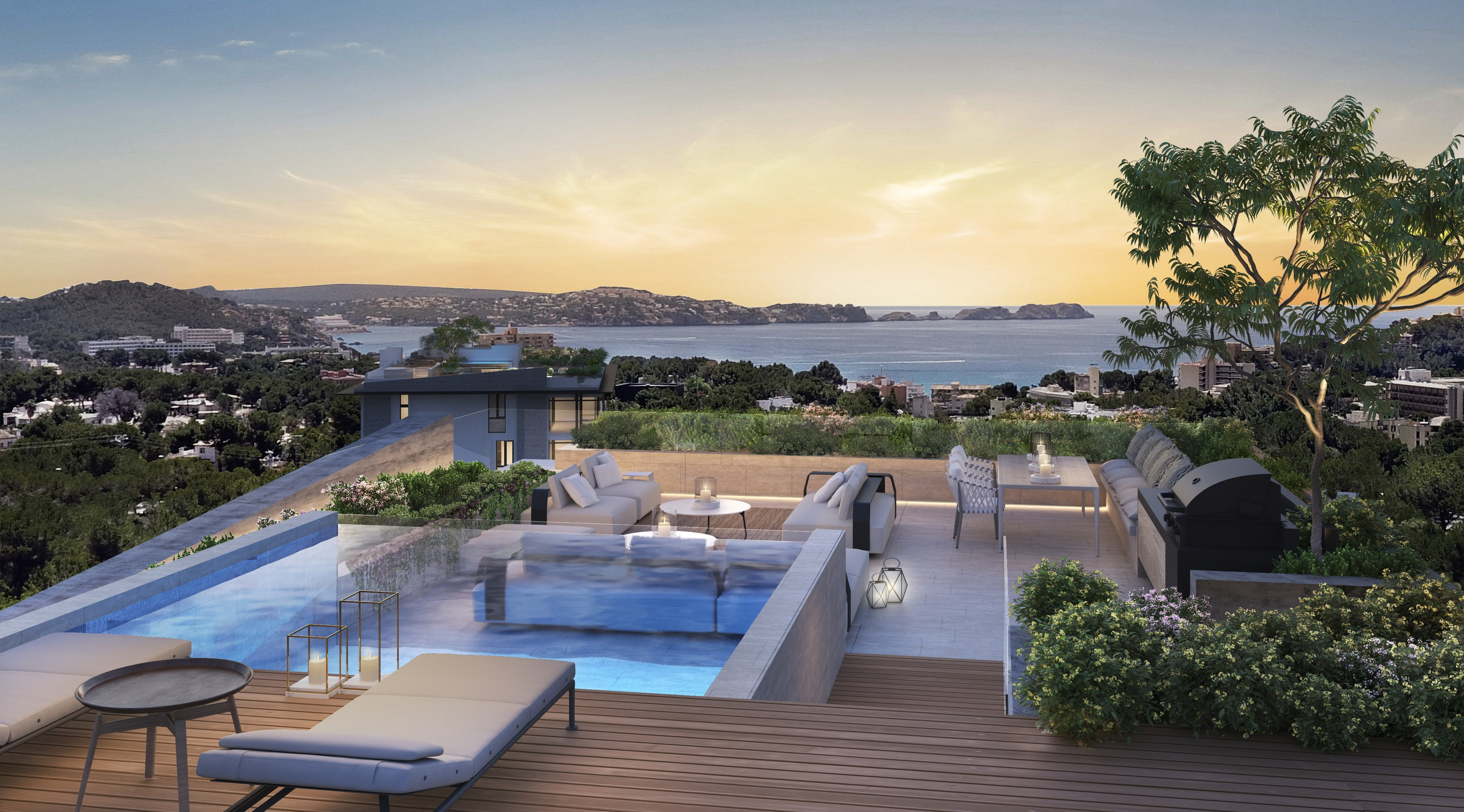 New penthouses with swimming pools luxury resort | 8416 | Mallorca ...